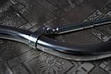 Руль для мото алюминиевый низкий 80см серебристый с распоркой (вариант 19), фото 3