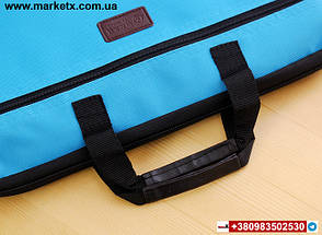 Рожева сумка А4 з тканини, фото 3