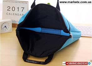 Рожева сумка А4 з тканини, фото 2