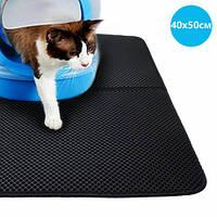 Водонепроницаемый коврик для кошачьего туалета 40х50см CLM01 Black - 223324