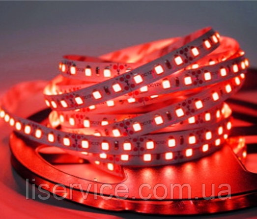 Светодиодная лента 9,6 Вт/м. 12V IP33  красная