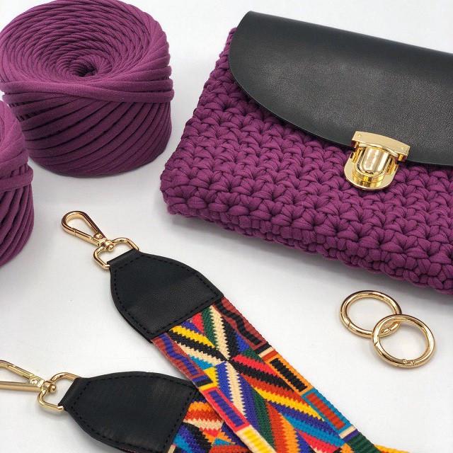 Набор конструктор для вязания крючком сумки кросс боди с плечевым ремнем «MY LITTLE BAG»