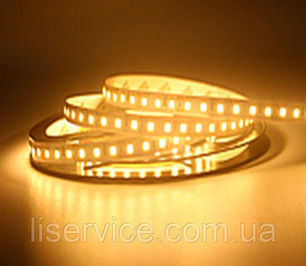 Светодиодная лента 14,4 Вт/м. 12V 3200К IP33  теплого белого свечения