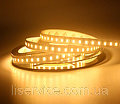 Светодиодная лента 14,4 Вт/м. 12V 3200К IP33  теплого белого свечения, фото 2
