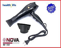 Профессиональный фен для волос Nova NV-7200 3000 Вт + концентратор насадка