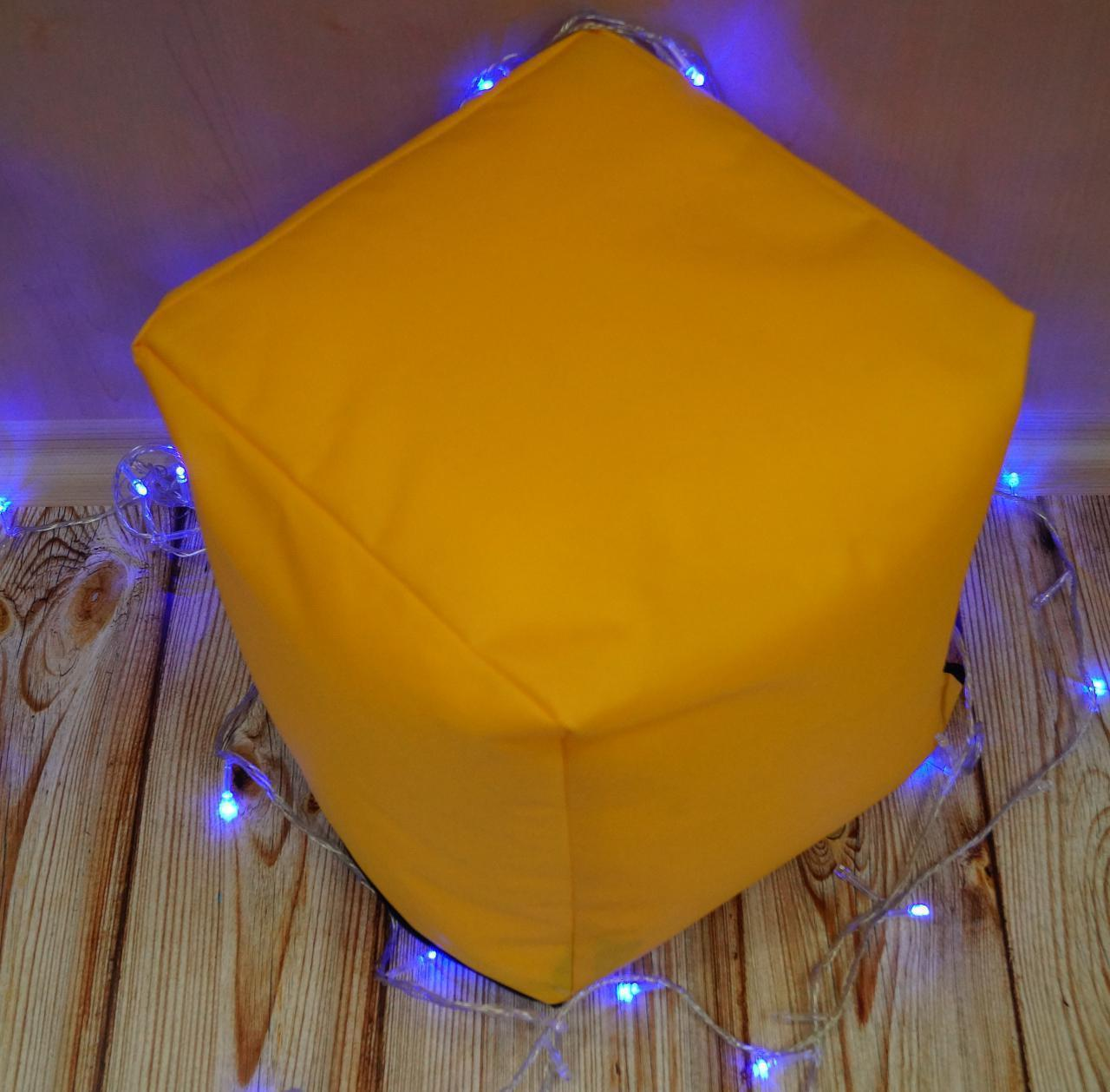 Пуф куб, 30*30 см, (оксфорд), жовтий