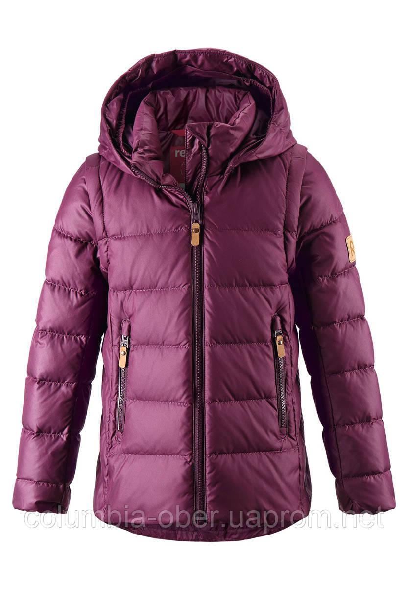 Зимняя пуховая куртка - жилетка для девочек Reima Minna 531346.9-4960. Размеры 104 - 164.