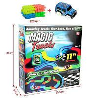 Гибкий трек с машинкой Светящийся в темноте 220 деталей Magic Tracks SKL25-223378