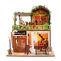 3D Интерьерный конструктор Midesize Diy Doll House Rainbow cafe - 223348
