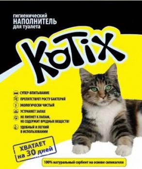 Силикагелевый наполнитель для котов Kotix 3 литра