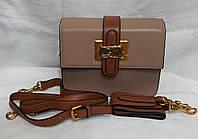 Маленькая стильная сумочка.Кожаная маленькая сумочка. Бежевый, фото 1