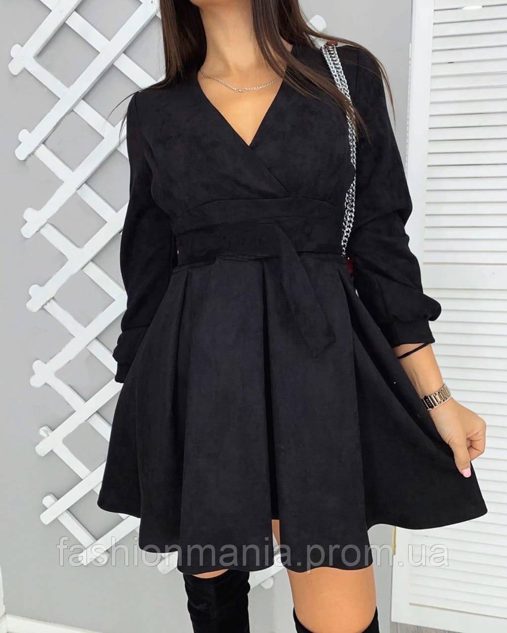 Платье женское замшевое чёрное, серое 42-44,44-46