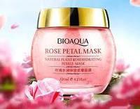 Ночная увлажняющая маска для лица с экстрактом розы BioAqua Rose Petal Mask