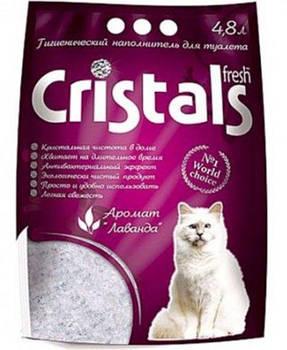 Силикагелевый наполнитель для котов CRISTALS Fresh с лавандой 3.6 литров
