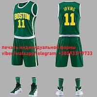Баскетбольний зелена форма Kyrie Irving №11 (майка+шорти) Boston Celtics