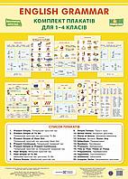 Комплект плакатів. Граматика англійської мови. 1-4 класи. НУШ.