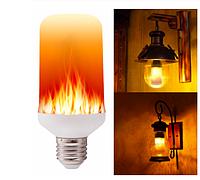 Лампочка с эффектом огня 5Вт Е27, 135х65мм 3 режима работы