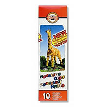 """Пластилин """"Жираф"""", 10 цветов, 200 г. Картонная упаковка с пластиковым поддоном."""