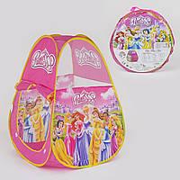 Палатка детская Принцессы 70х70х90 см, в сумке 012