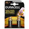 Батарейки Duracell Basic AA 1.5V LR6, 2 шт.