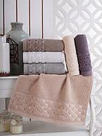Набор полотенец Sikel Vip Cotton silver 50х90 6шт