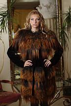 Шуба-жилет жилетка из мутона и яка-ламы Mouton-and-tibet-lamb fur coat