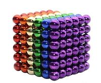 Neo Cube Нео Куб 5мм цветной, Головоломка, Разноцветный нео куб, Антистресс магнитные шарики, Магнитный неокуб