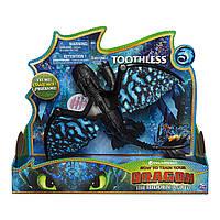 """Интерактивная игрушка """"Беззубик огонь и рев"""" (Toothless Deluxe Dragon with Lights and Sounds)"""