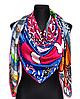 Шелковый платок Fashion Италия 135*135 см фуксия