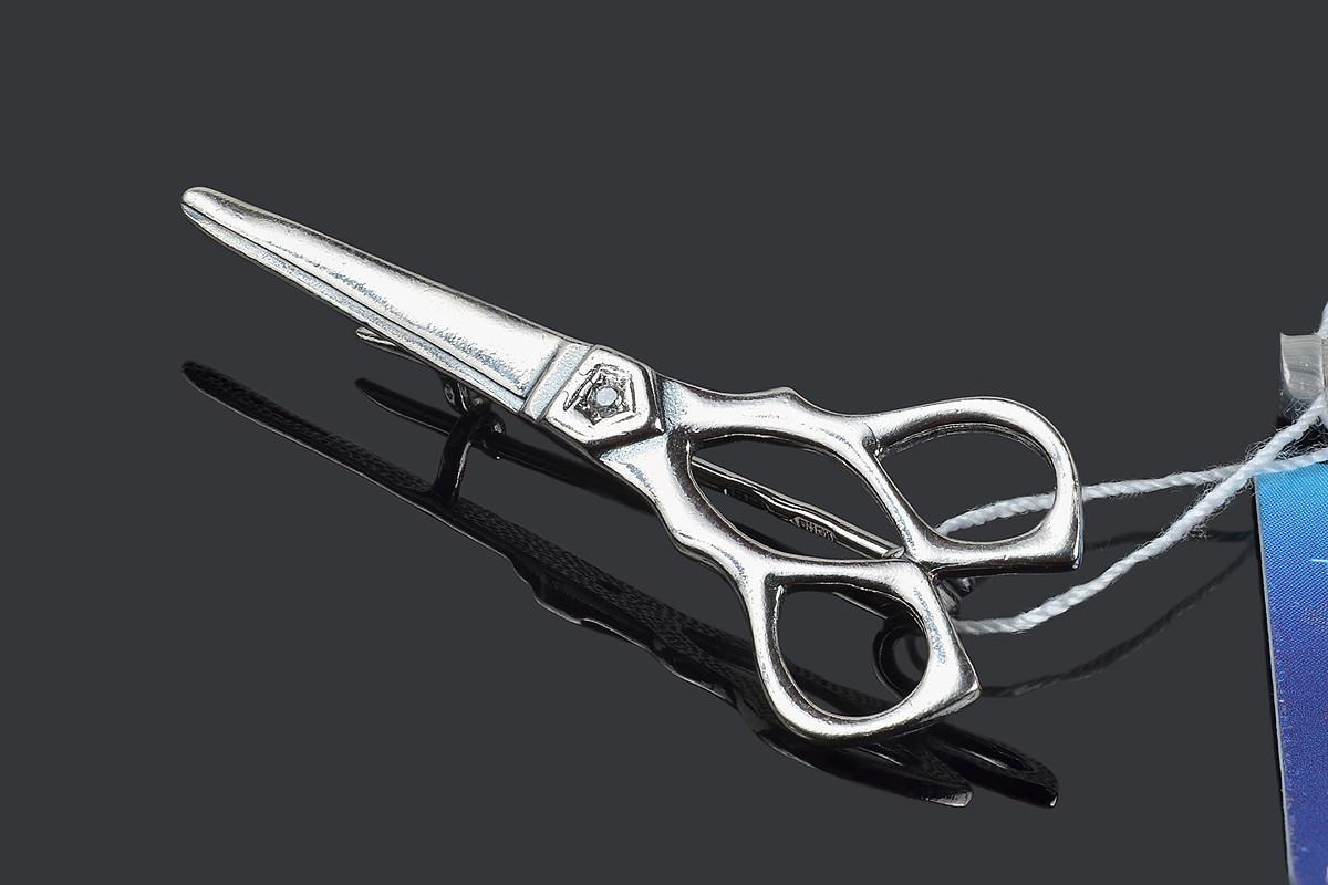 Серебряная брошь Ножницы Selenit 30121