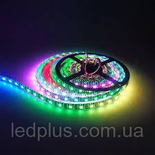Светодиодная адресная лента WS2812B RGB +5В  60 светодиодов на 1м