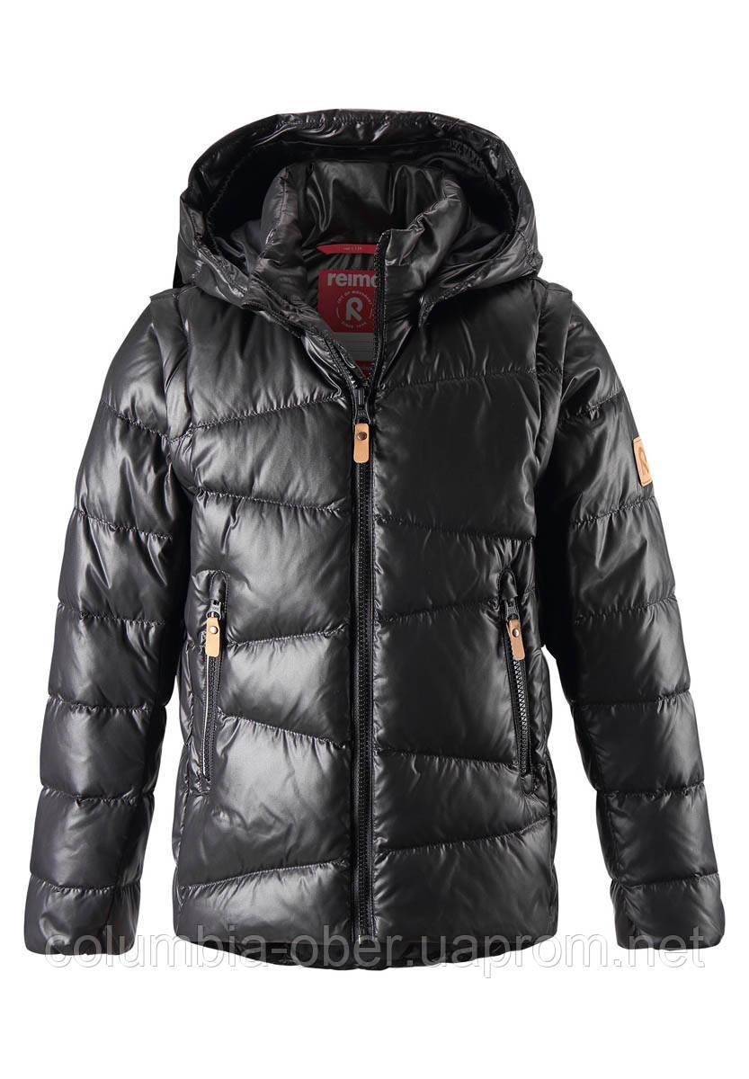 Зимняя пуховая куртка - жилетка для мальчика Reima Martti 531345.9-9990. Размеры 122 - 152.