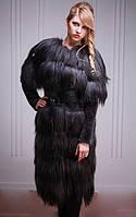 """Меховое пальто-жилет из яка и мутона """"астраган"""" Tibet-lamb-and-mouton fur coat and vest, фото 1"""