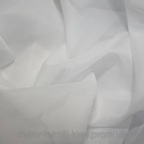 Комплект штор Милена Коричневый, кухонные(Вуаль), фото 2