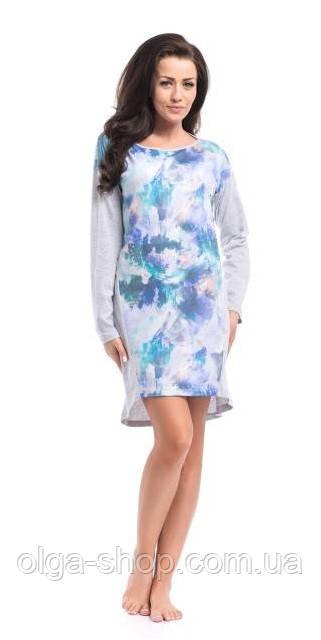 Сорочка, ночная рубашка женская хлопковая Dobra Nocka  8008