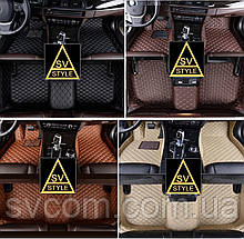 Коврики салона Range Rover Vogue Кожаные 3D (2001-2012) тюнинг Коврики Ренж Ровер
