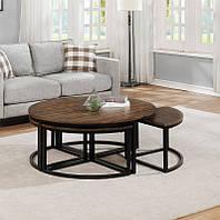 """Журнальный столик +стульчики в стиле лофт для маленькой гостинной """"Донат"""""""