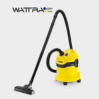 Пылесос хозяйственный (1000 Вт) WD 2 HOME KARCHER для влажной и сухой уборки