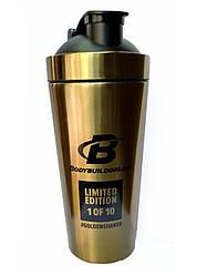 A_Shaker BodyBuilding 750мл - золотой