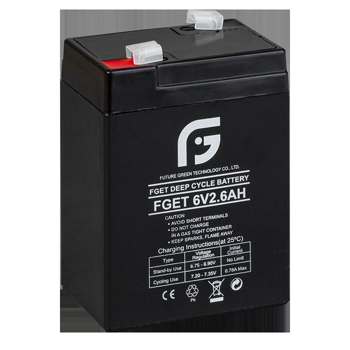 Акумулятор 6 вольт 2.6 ампера FGET