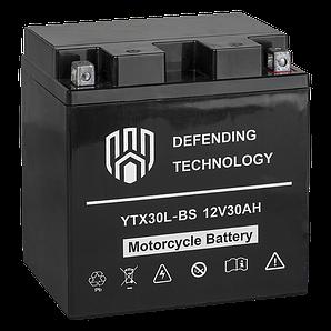 Акумулятор мото 30Ач 12В MF Defending Technology YTX30L-BS