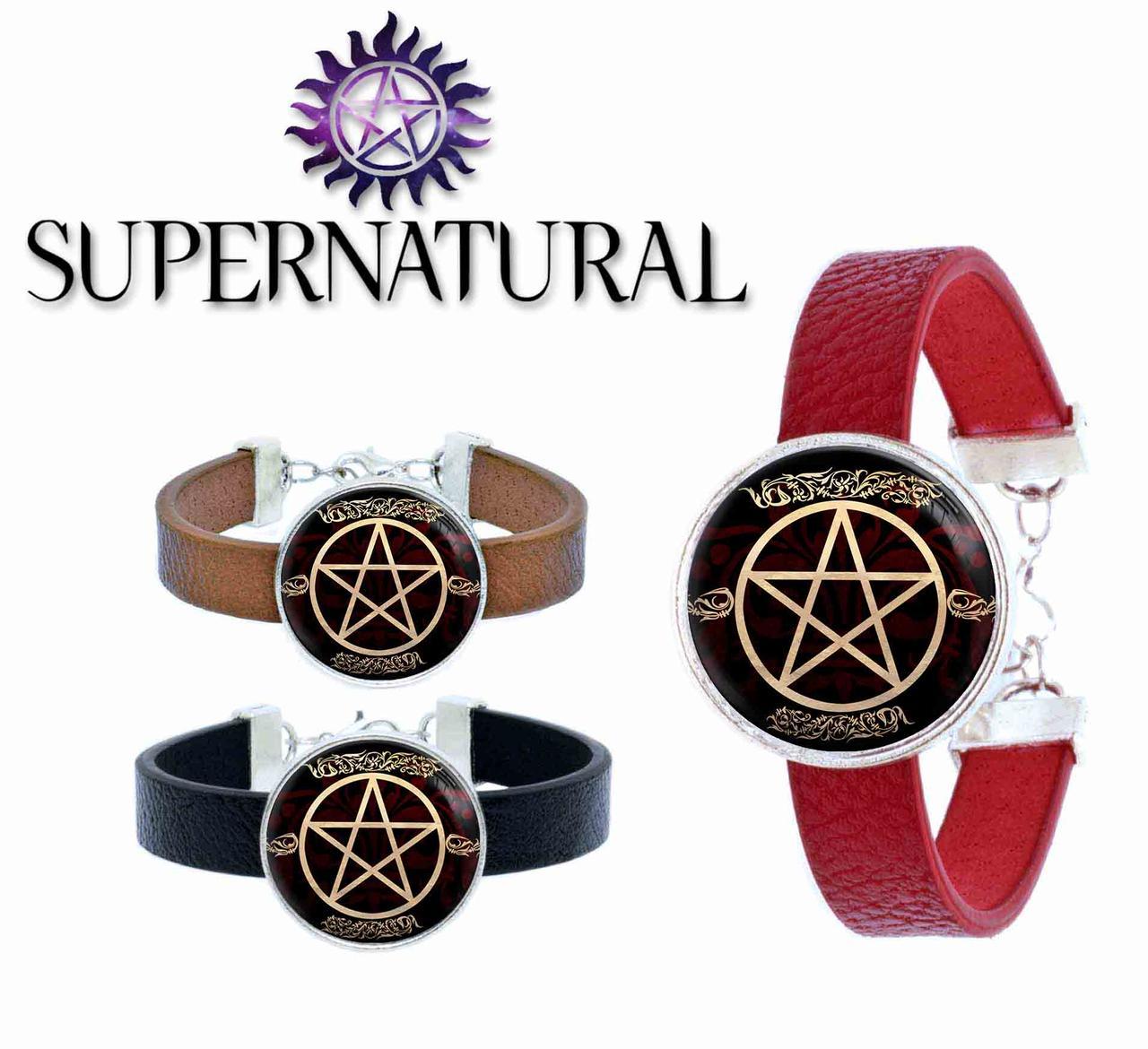 Браслет пентаграмма с плетением Сверхъестественное / Supernatural