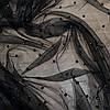 Ткань сетка с бусинами черная, фото 3
