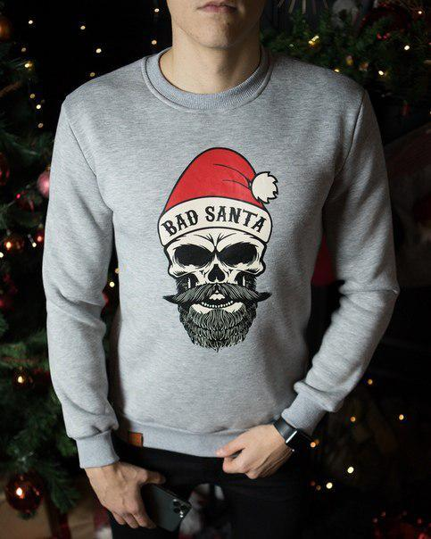 "Мужской свитшот Pobedov sweatshirts ""Bad Santa"", три цвета"