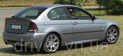 Дефлектори вікон вставні BMW 3 Series Е46 1998-2004 2D / вставні, 2шт/ Compact