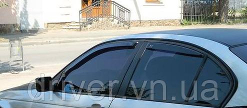 Дефлектори вікон вставні BMW 3 Series Е46 1998-2004 4D / вставні, 4шт/ Sedan
