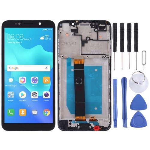 Дисплей для Huawei Y5, Y5 Prime 2018 (DRA-L21 DRA-L22 DRA-L02) с тачскрином и рамкой черный Оригинал