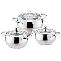 Набор посуды Maestro  6 предметов нержавейка (3509-6 MR)