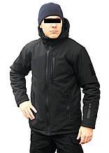Куртка зимняя полицейская soft-shell черная