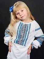 Українська сорочка з блакитним орнаментом